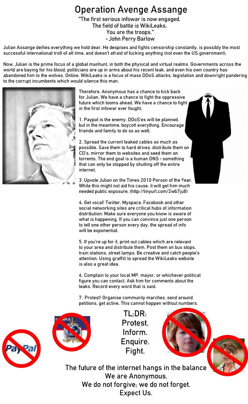 Avenge Assange Anonymous